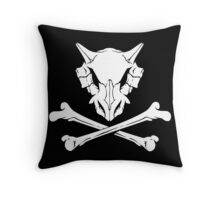 Cubone Skull Throw Pillow