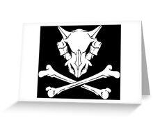 Cubone Skull Greeting Card