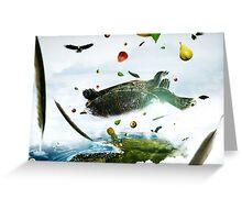 TORTOISE CRACKED SHELL/// (NIGERIAN FOLK TALE) Greeting Card
