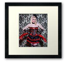 Burlesque Stance Framed Print