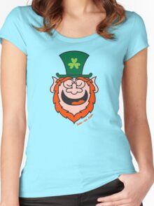 St Paddy's Day Leprechaun Speaking Women's Fitted Scoop T-Shirt