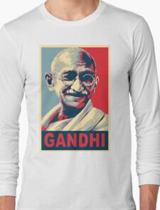 Mahatma Gandhi portrait Campaign Design  Long Sleeve T-Shirt