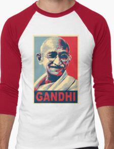 Mahatma Gandhi portrait Campaign Design  Men's Baseball ¾ T-Shirt
