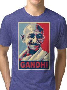 Mahatma Gandhi portrait Campaign Design  Tri-blend T-Shirt