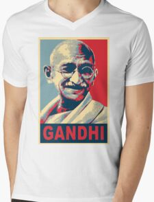 Mahatma Gandhi portrait Campaign Design  Mens V-Neck T-Shirt