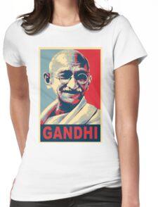 Mahatma Gandhi portrait Campaign Design  Womens Fitted T-Shirt