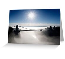Clouds under the Clifton Suspension Bridge Greeting Card