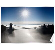 Clouds under the Clifton Suspension Bridge Poster