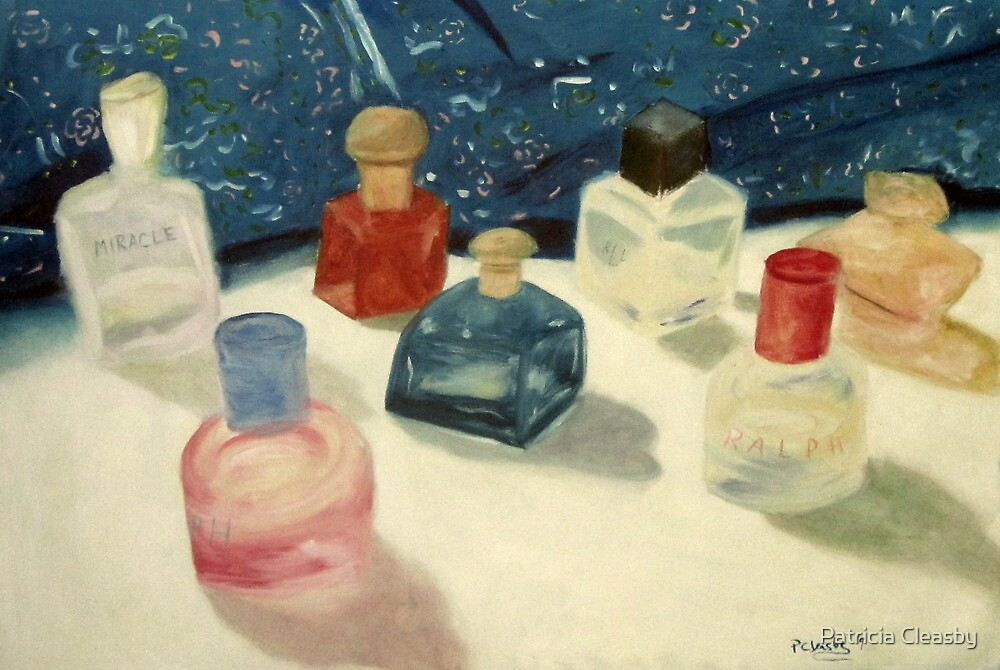 Perfume Bottles by Patricia Cleasby