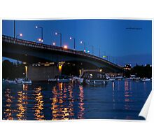 MacDonald Cartier Bridge at Night Poster
