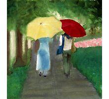 Impressionist Two Women Friends Landscape Photographic Print