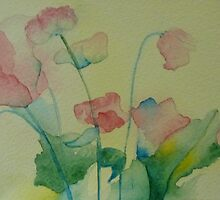 more watercolour flowers by Annie Wise