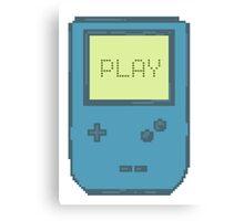 Pixel Gameboy - PLAY Canvas Print