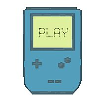 Pixel Gameboy - PLAY Photographic Print
