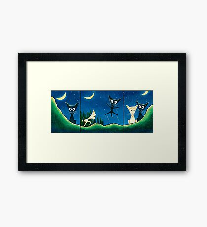 Black Cat, White Cat Framed Print