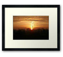 Winter Sun Rise  Framed Print