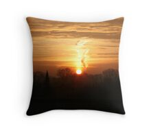 Winter Sun Rise  Throw Pillow