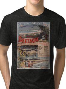 Gustave Fraipont Affiche PO Bretagne 1896 Tri-blend T-Shirt