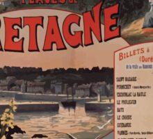 Gustave Fraipont Affiche PO Bretagne 1896 Sticker