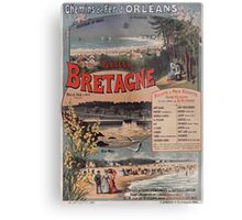 Gustave Fraipont Affiche PO Bretagne 1896 Metal Print