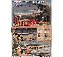 Gustave Fraipont Affiche PO Bretagne 1896 Photographic Print