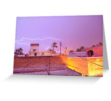 Lighting over Marrakech Greeting Card