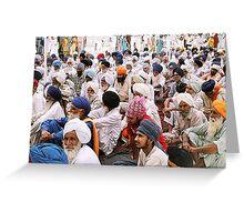 Sermon's listeners - Golden Temple, Amritsar, India Greeting Card