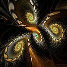 Delicate Spirals Of Lace by Deborah  Benoit