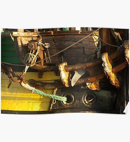 "Wooden sculptures on the bow of ""frigate Shtandart"" Poster"