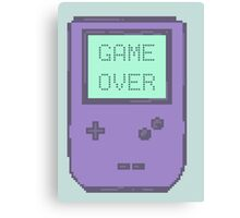 Pixel Gameboy - GAME OVER Canvas Print