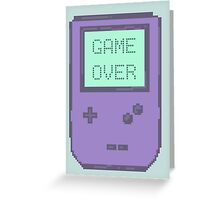 Pixel Gameboy - GAME OVER Greeting Card