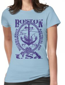 usa boston, ma tshirt by rogers bros Womens Fitted T-Shirt