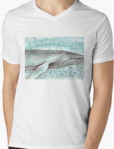 Whale vector Mens V-Neck T-Shirt