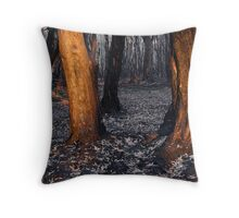 Australian bushfire aftermath Throw Pillow