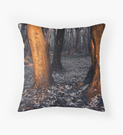 Australian bushfire aftermath Throw Pillow