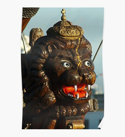 Crowned lion figurehead Poster