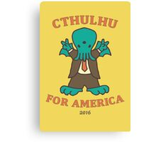 Cthulhu for America 2016 Canvas Print