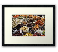 Herb market Framed Print
