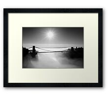 Clouds under the Clifton Suspension Bridge Framed Print