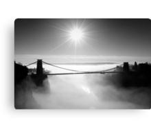 Clouds under the Clifton Suspension Bridge Canvas Print