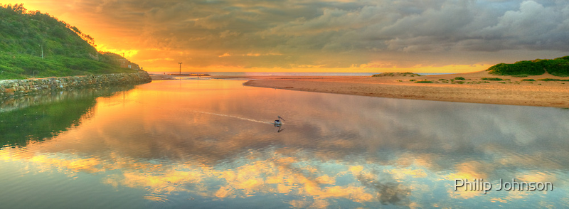 Pelican Dreaming - Narrabeen Lakes Entrance, Sydney Australia - The HDR Experience by Philip Johnson