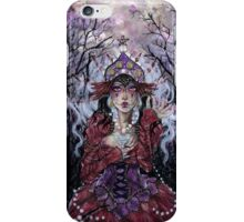 Tipsy Tarot - Four of Pentacles iPhone Case/Skin