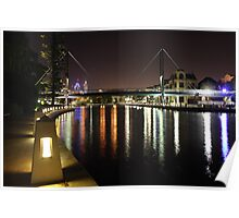 East Perth At Night Poster