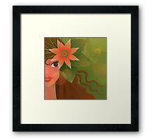 The Forest Girl Framed Print