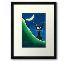 Black Cat, White Cat - Panel 1 Framed Print