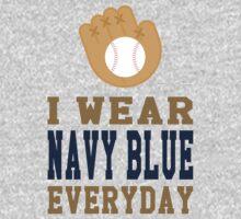 I Wear Navy Blue Everyday One Piece - Long Sleeve