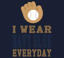 I Wear Navy Blue Everyday Kids Tee