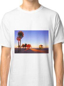 Miami South Beach sunset with lifeguard tower, Florida, USA Classic T-Shirt