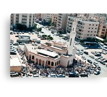 Friday prayer in Mangaf, Kuwait Canvas Print