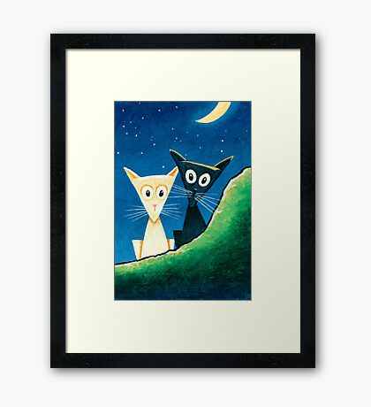 Black Cat, White Cat - Panel 3 Framed Print